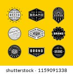 vintage logo  insignia and... | Shutterstock .eps vector #1159091338