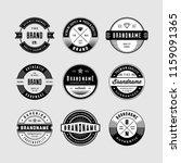 vintage logo and circular... | Shutterstock .eps vector #1159091365
