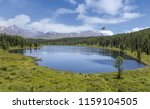 round lake in gorny altai ... | Shutterstock . vector #1159104505