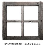Old Window Frame Isolated On...