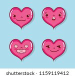 set of cute hearts cartoons   Shutterstock .eps vector #1159119412