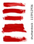 red abstract hand painted...   Shutterstock . vector #115912936