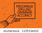writing note showing proofread... | Shutterstock . vector #1159136422