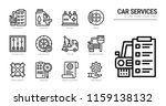 car service icon set. | Shutterstock .eps vector #1159138132