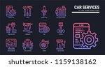car service icon set. | Shutterstock .eps vector #1159138162