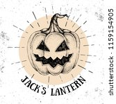 halloween hand drawn pumpkin... | Shutterstock .eps vector #1159154905