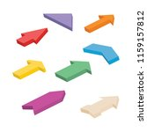 set of eight colorful isometric ... | Shutterstock .eps vector #1159157812