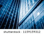 abstract building. blue glass... | Shutterstock . vector #1159159312