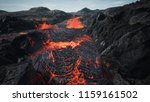 lava flowing from volcano lava... | Shutterstock . vector #1159161502