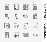 set of calculation vector line... | Shutterstock .eps vector #1159167472