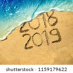 new year 2019 celebration on... | Shutterstock . vector #1159179622