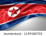 north korea flag of silk with... | Shutterstock . vector #1159180705