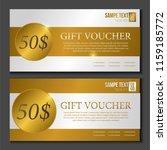 special gift voucher template...   Shutterstock .eps vector #1159185772