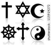 religious symbols | Shutterstock . vector #115919272