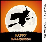 happy halloween background with ... | Shutterstock .eps vector #115919596