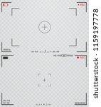 camera view finder. focusing... | Shutterstock .eps vector #1159197778