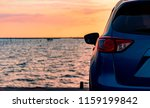 blue compact suv car with sport ... | Shutterstock . vector #1159199842