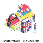 learning foreign languages... | Shutterstock .eps vector #1159201285