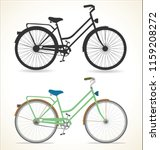 retro vintage bicycle isolated... | Shutterstock .eps vector #1159208272