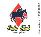polo sport logo with text space ... | Shutterstock .eps vector #1159210582