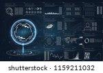 hud in modern style on white... | Shutterstock .eps vector #1159211032