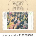germany circa 1993 a stamp... | Shutterstock . vector #1159213882