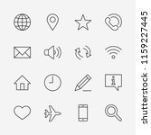 set of web vector line icons.... | Shutterstock .eps vector #1159227445