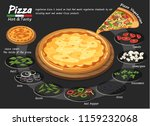 pizza on the board with the... | Shutterstock .eps vector #1159232068