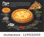 pizza on the board with the... | Shutterstock .eps vector #1159232455