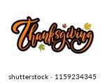 thanksgiving. handwritten... | Shutterstock .eps vector #1159234345