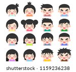 avatars collection of children | Shutterstock .eps vector #1159236238