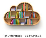 online library concept | Shutterstock . vector #115924636