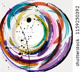 abstract geometric circle... | Shutterstock .eps vector #1159250392