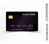 modern credit card template... | Shutterstock .eps vector #1159253908