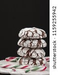 home baked peppermint and... | Shutterstock . vector #1159255942
