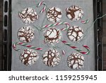 home baked peppermint and... | Shutterstock . vector #1159255945