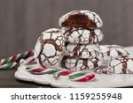 home baked peppermint and... | Shutterstock . vector #1159255948