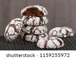 home baked peppermint and... | Shutterstock . vector #1159255972