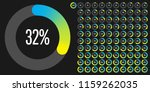 set of circle percentage... | Shutterstock .eps vector #1159262035