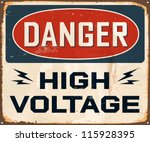 Vintage Metal Sign   Danger...