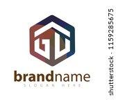 gu initial letter hexagonal... | Shutterstock .eps vector #1159285675