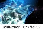 blue particles and plexus... | Shutterstock . vector #1159286218
