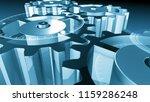 3d metallic gear cogwheels and... | Shutterstock . vector #1159286248