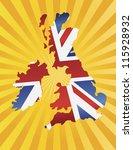uk great britain union jack...   Shutterstock .eps vector #115928932
