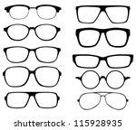 glasses vector set. retro ... | Shutterstock .eps vector #115928935