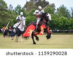 Two knights compete during re...