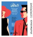 women fashion magazine cover... | Shutterstock .eps vector #1159293145