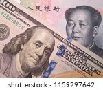 us dollar and chinese yuan.... | Shutterstock . vector #1159297642