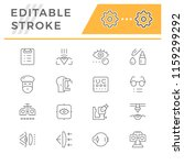 set line icons of ophthalmology | Shutterstock .eps vector #1159299292
