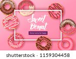 sweet background with hand made ... | Shutterstock .eps vector #1159304458
